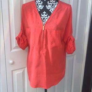 4/$30 EUC Coral Calvin Klein Blouse size Large